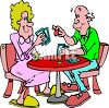 People Playing Cards Clip Art clipart