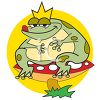 Fat Toad Sitting on a Mushroom (Toadstool) clipart