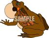Brown Frog with a Puffed Out Throat clipart