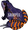 Purple and Orange Frog clipart