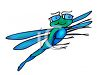 Dragonfly Wearing Glasses clipart