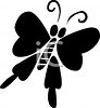 Silhouette of a Butterfly clipart