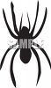 Silhouette of a Spider clipart