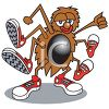 Cartoon Spider Wearing Sneakers Clip Art clipart