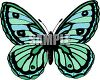 Blue and Green Butterfly Clipart clipart