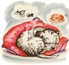 Puppy Dreaming Clip Art clipart