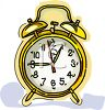 Old Fashioned Brass Bell Clock Clipart clipart