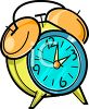 Bell Style Alarm Clock clipart