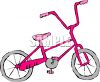 Girl's Bike clipart
