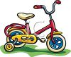 Child's Bike With Training Wheels clipart