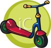 Child's Scooter clipart
