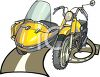 Motorcycle with a Sidecar Clipart clipart