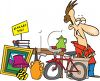 Man Having a Garage Sale Clipart  clipart