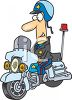 Motorcycle Cop Clipart clipart