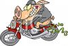 Pig on a Hog (Motorcycle) Clipart clipart