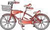 Vintage Bicycle Built for Two Clip Art clipart