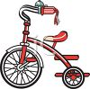 Kid's Red Tricycle Clip Art clipart