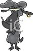 Black Sheep With Attitude Clip Art clipart