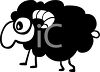 Cartoon Black Sheep Clip Art clipart