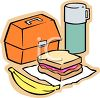 Workers Lunchbox and Thermos Clip Art clipart