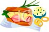 Ham and Swiss on a Hoagie Roll Clipart clipart