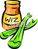 Cheese Spread and Celery Clip Art clipart