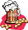 Peanuts and Beer Clipart clipart