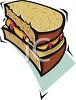 Half of a Peanut Butter and Jelly Sandwich Clipart clipart