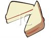 Peanut Butter and Jelly on White Bread Clipart clipart