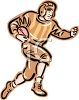 Vintage Football Player Clipart clipart