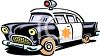 Vintage Cartoon 1950's Police Car Clipart clipart