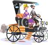 Couple in a Vintage Model T Car Clip Art clipart