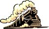 Vintage Steam Train Clip Art clipart