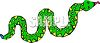 Brightly Colored Snake clipart