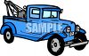 Vintage Tow Truck clipart