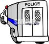 Back of a Police Paddy Wagon clipart
