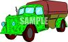 Camouflage Truck  clipart