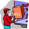 Men Loading a Truck clipart
