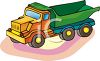 Child's Toy Dump Truck clipart