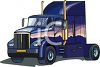 Semi-Truck with a Sleeping Area clipart