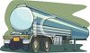Tanker from a Semi-Truck clipart