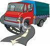 Cab Over Engine Deliver Truck clipart