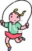 Little Girl Jumping Rope clipart