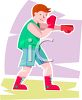 Teen Boy Boxing clipart