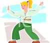 Teen Aged Girl Doing Tai Chi clipart