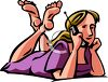 Teenaged Girl Talking on the Phone clipart