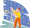 Teenager Looking at the Stars (Constellations) clipart