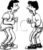 Two Teenage Boys That Are Very Angry clipart