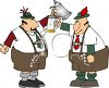 Oktoberfest Clip Art - Men with Beer Steins clipart