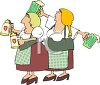 Two German Women Serving Beer on Oktoberfest Clipart clipart